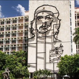 Innenministerium mit Che Guevaras Konterfei