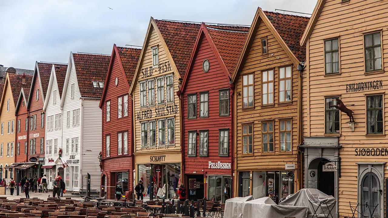 Sehenswürdigkeiten in Bergen: Die Häuser in Bryggen