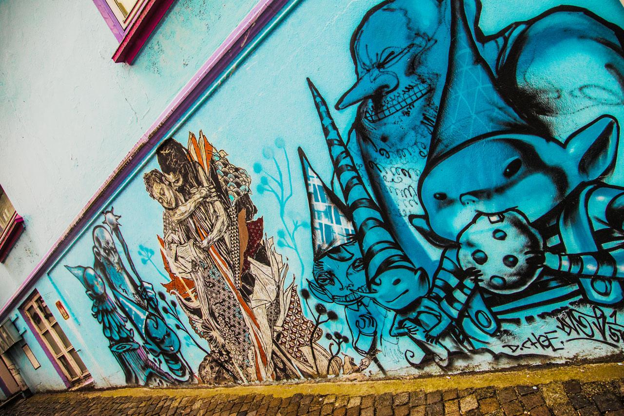 Stavanger Sehenswürdigkeiten Graffiti Street Art
