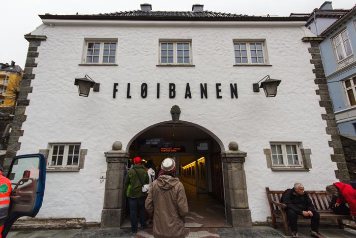 Talstation Fløibanen in Bergen