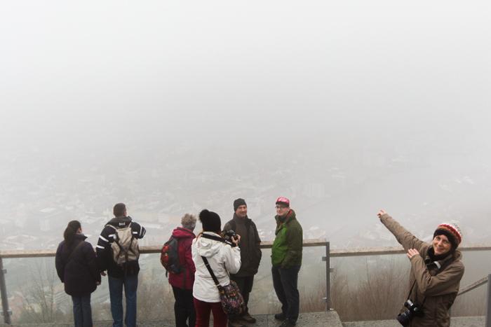 Nebel auf dem Fløien