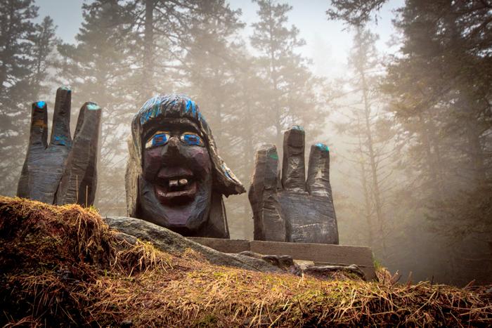 Norwegen Trollwald in Bergen