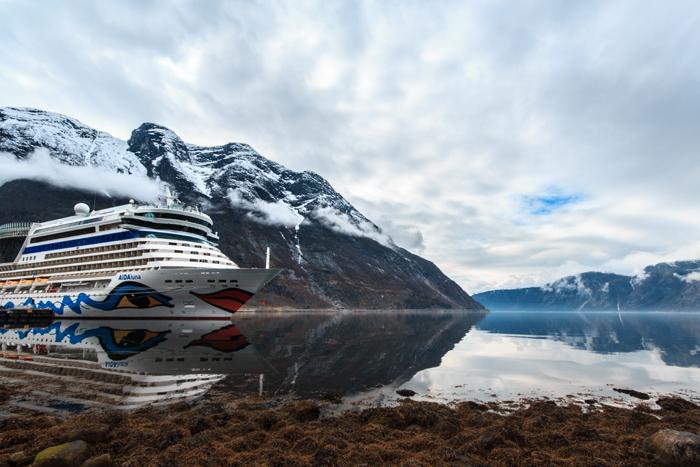 Aida luna im Hafen von Eidfjord