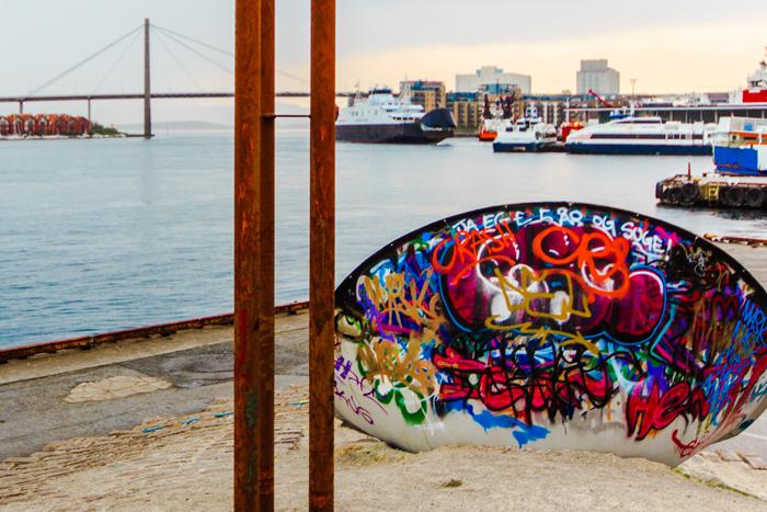 Graffiti beim Ölmuseum in Stavanger