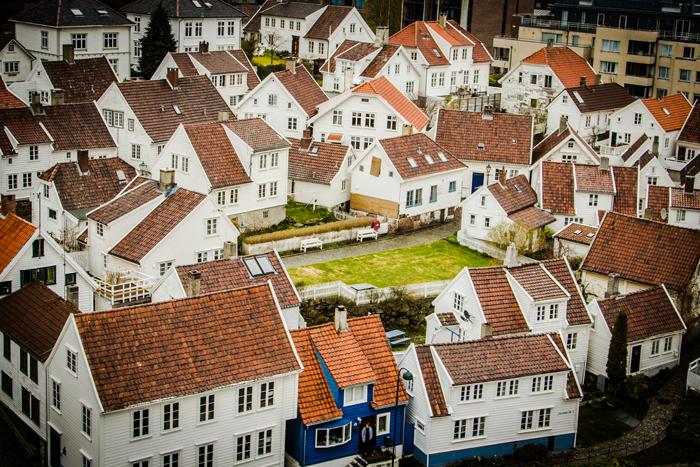 Gamle Stavanger von Oben