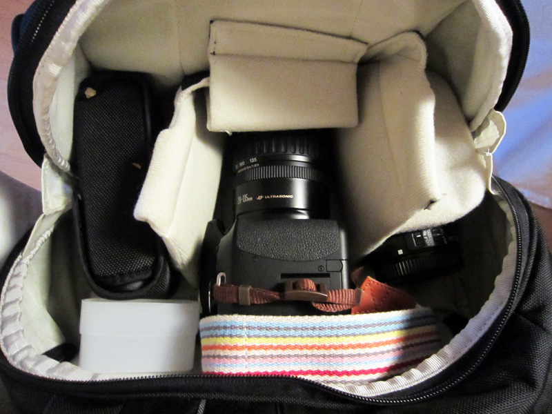 Fotorucksack: Unteres Fach des Rucksacks für Kamera und Objektive