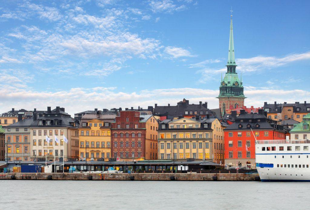 Blick auf Gamla Stan Stockholm