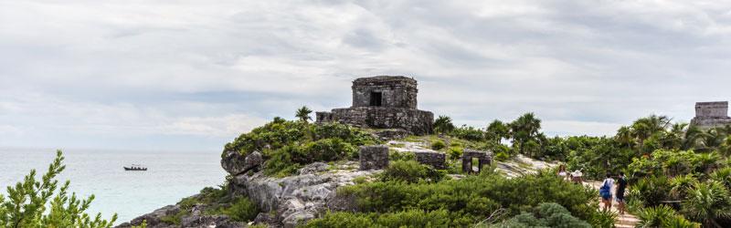 Mexiko Yucatan Sehenswürdigkeiten: Maya Ruinen in Tulum