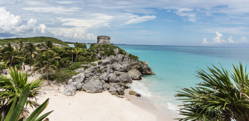 Mexiko Sehenswürdigkeiten: Maya Ruinen Tulum (Yucatan)