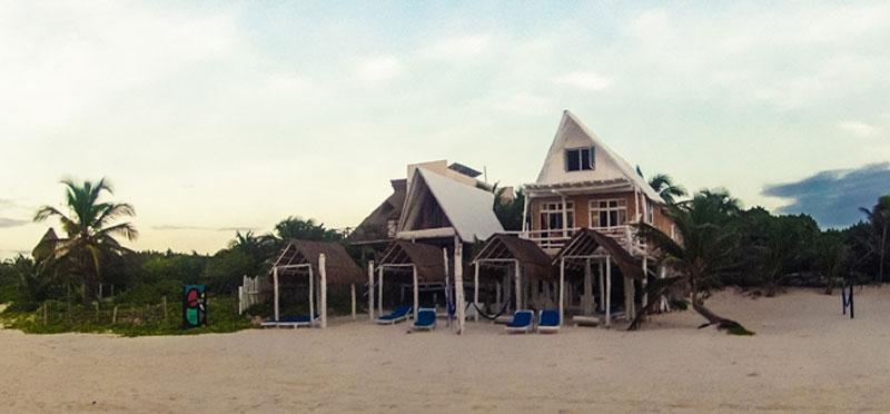 Hotel Posada Tulum direkt am Meer