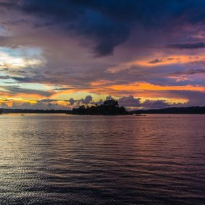 Sonnenuntergang in Flores Guatemala See