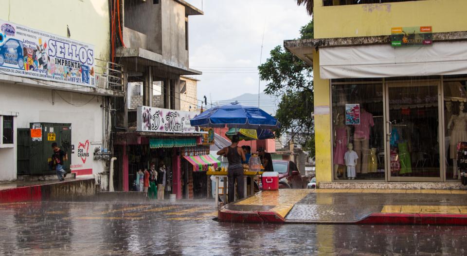 Monsunregen in Palenque