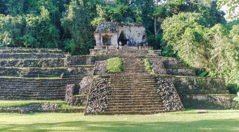 Palenque Mexiko Templo 12 Palenque Maya Ruinen