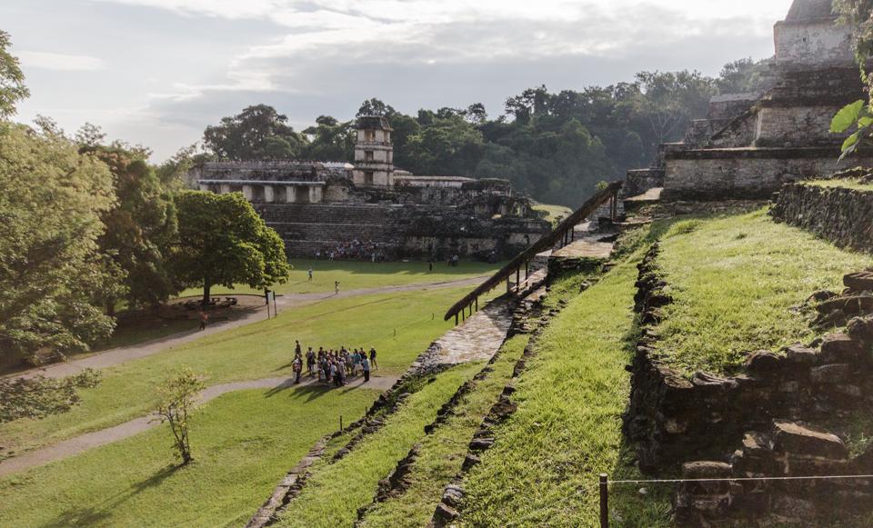 Palenque Mexiko Ausblick vom Templo XII