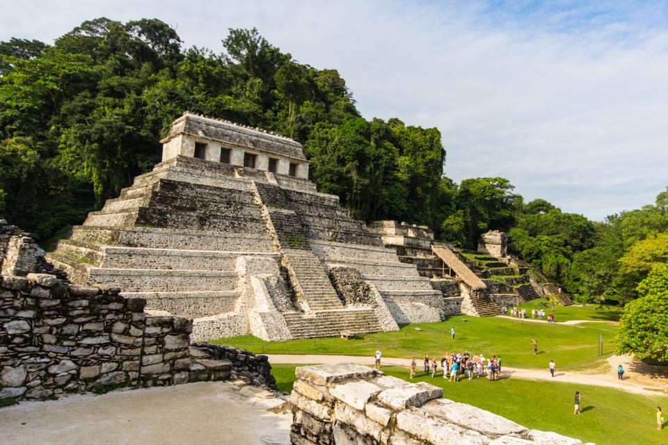 Palenque Mexiko Mayaruinen Templo de las inscripciones