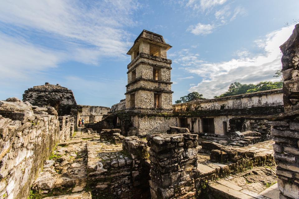 Turm im Palacio in Palenque