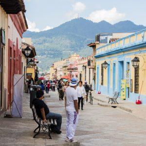 Die Straßen von San Cristobal de las Casas