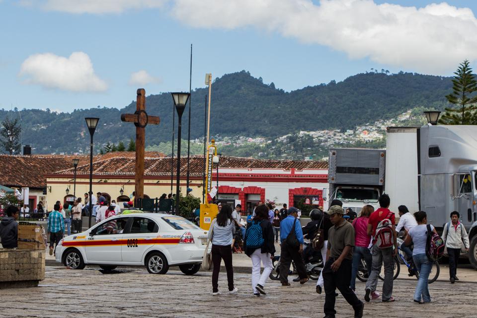 Der Zocalo San Cristobal de las Casas