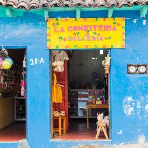 Hauseingang eines Geschäfts in San Cristobal de las Casas