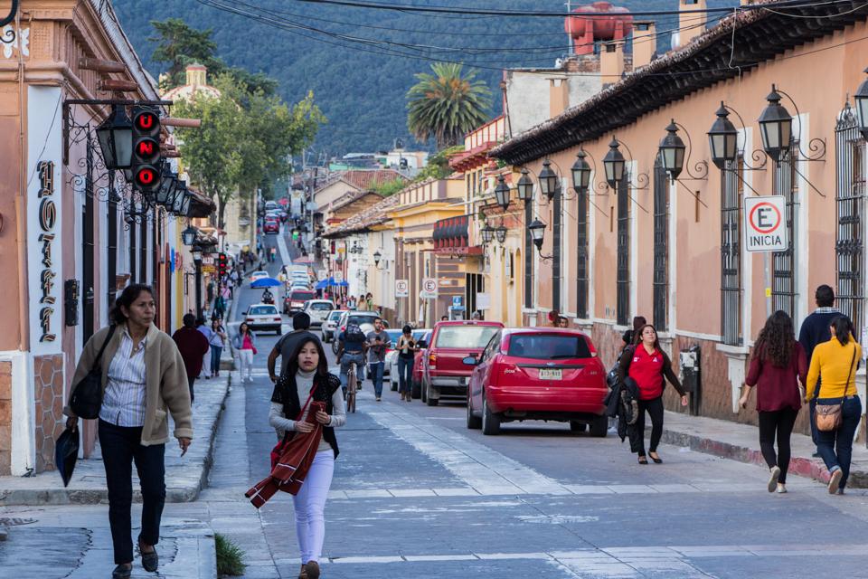Schlendern entlang der Straßen von San Cristobal de las Casas