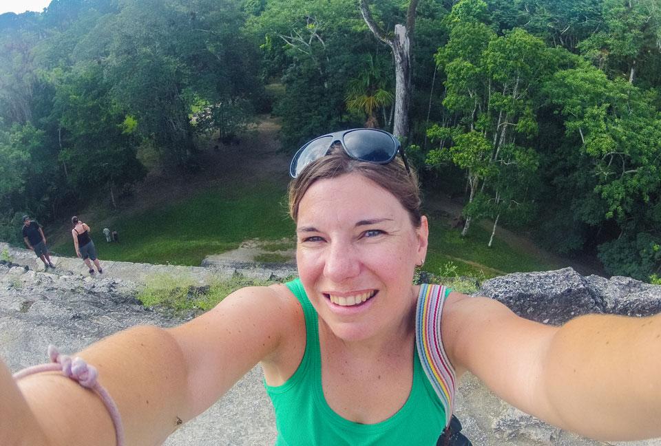 Tikal auf dem Tempel