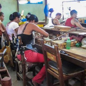 Zigarrenfabrik in Pinar del Rio (Kuba)