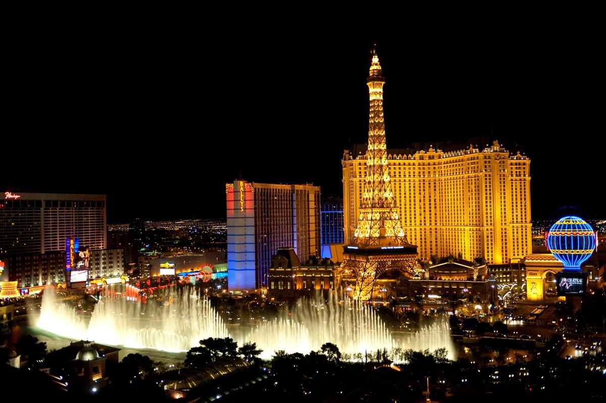 Sehenswürdigkeiten in Las Vegas, Bellagio Brunnen Wasserspiele