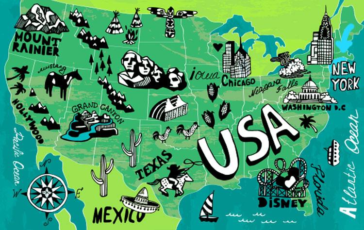 New York Karte und Lage