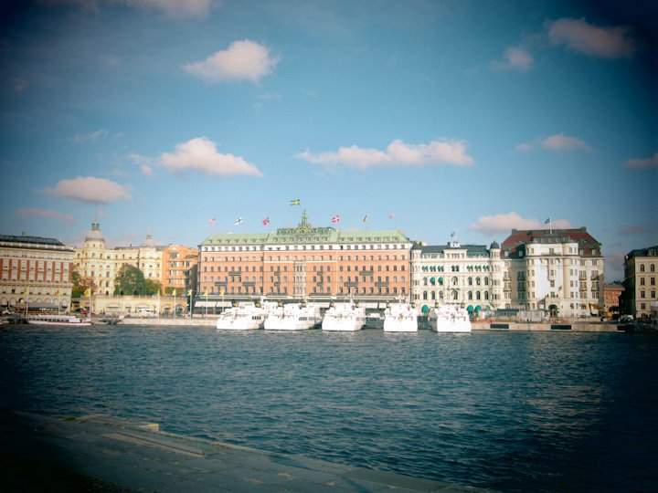 Sonne im Oktober in Stockholm