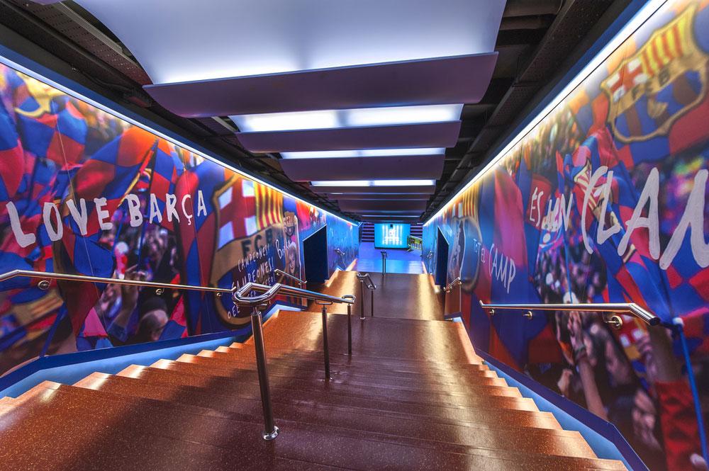 Sehenswürdigkeiten Barcelona FC Barcelona Stadion - Tunnel im Nou Camp