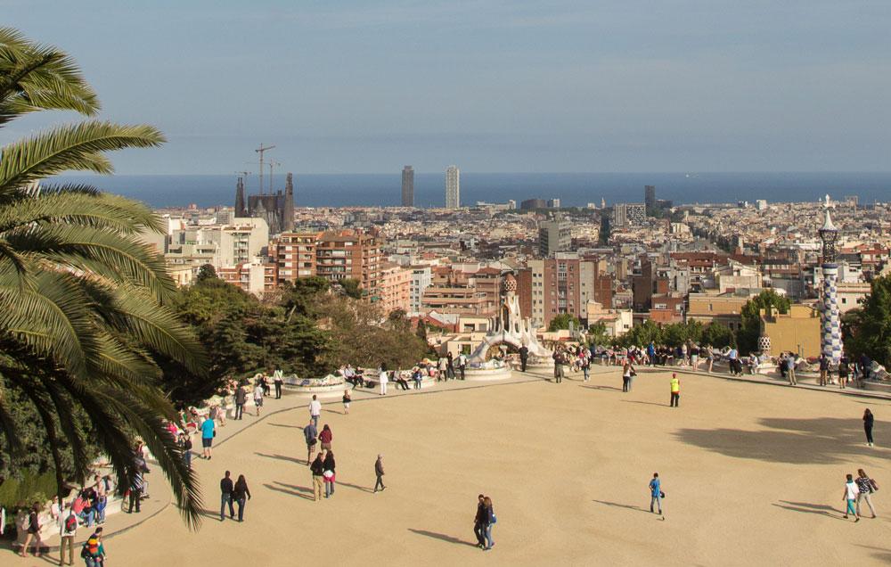 Ausblick Park Güell Barcelona