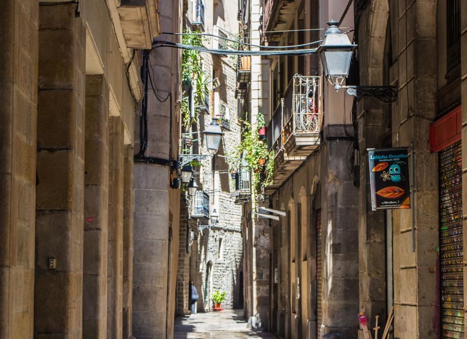 Die kleinen Gassen in Barcelona