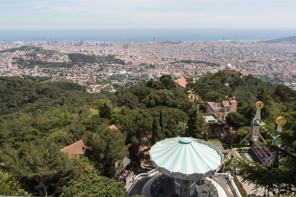 Barcelona Tibidabo Aussicht Panorama