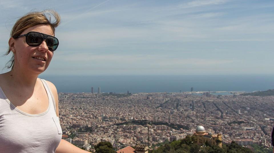 Ich auf dem Tibidabo in Barcelona