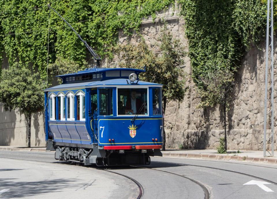 Die historische Straßenbahn Tramvia Blau