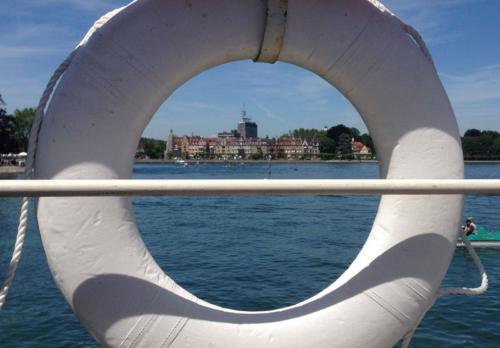 Bodensee Schifffahrt: Ausblick auf Konstanz