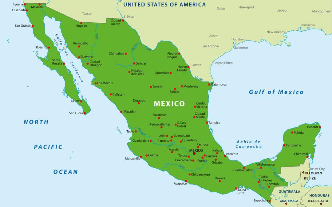 Mexiko Reisetipps Landkarte