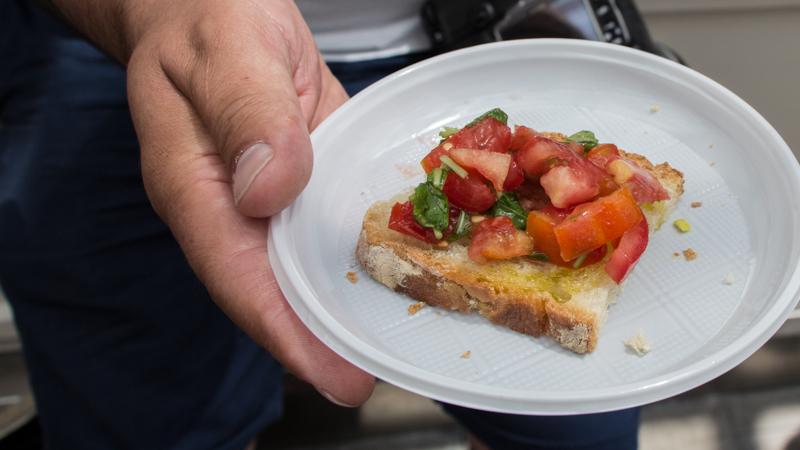 Bruscetta al pomodoro Testaccio Market
