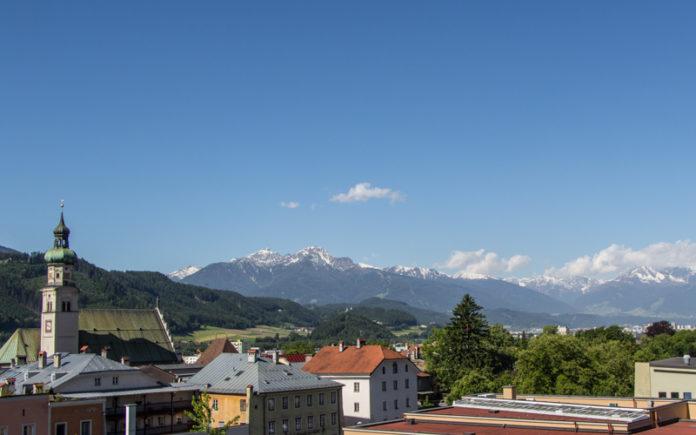 Hall Tirol Österreich Posthotel Ausblick