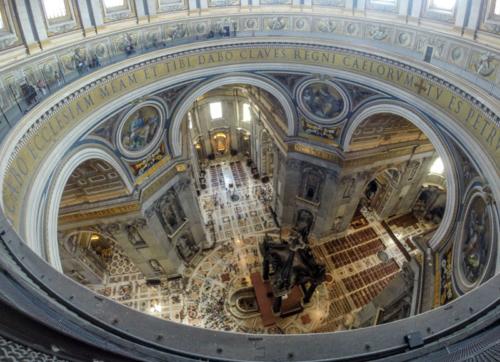 Kuppel Petersdom mit GoPro