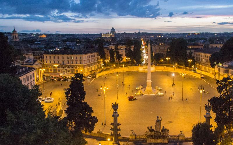 Piazza del Popolo Rom Ausblick