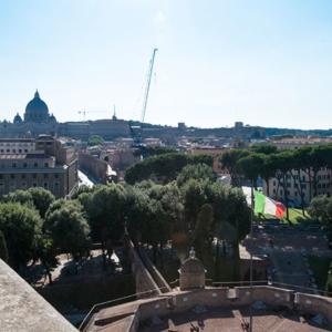 Rom Engelsburg Blick Vatikan