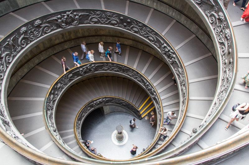Stairway in Vatican Museum Rome