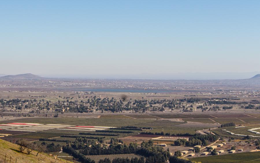Golanhöhen mit Blick nach Syrien