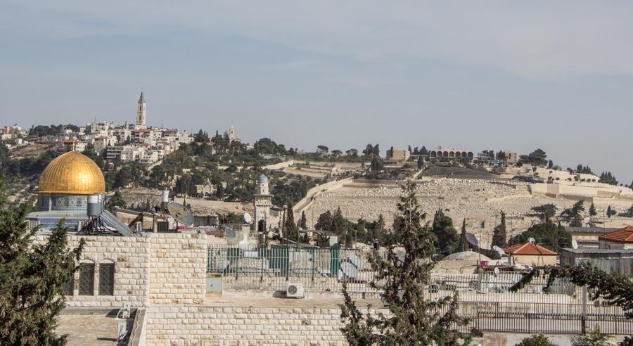 Jerusalem Ausblick Felsendom Ölberg