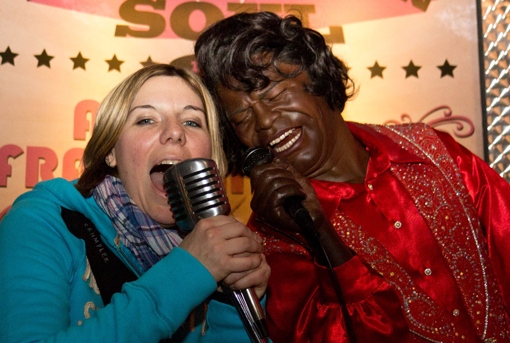 James Brown im Madame Tussauds in New York