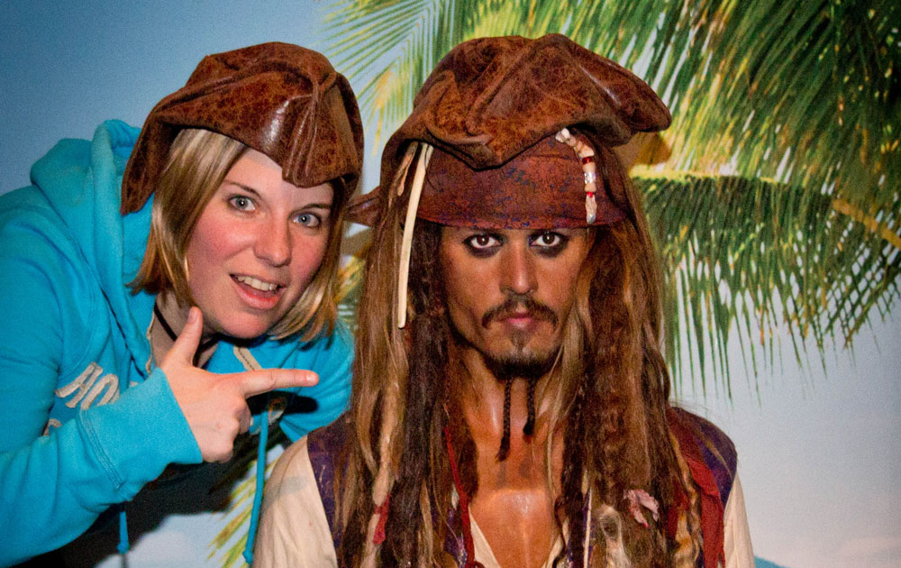 Captain Jack Sparrow aka Johnny Depp und ich im Madame Tussauds in New York
