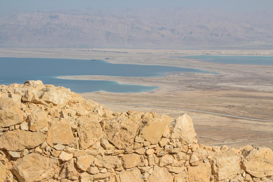 Masada Aussicht aufs Tote Meer