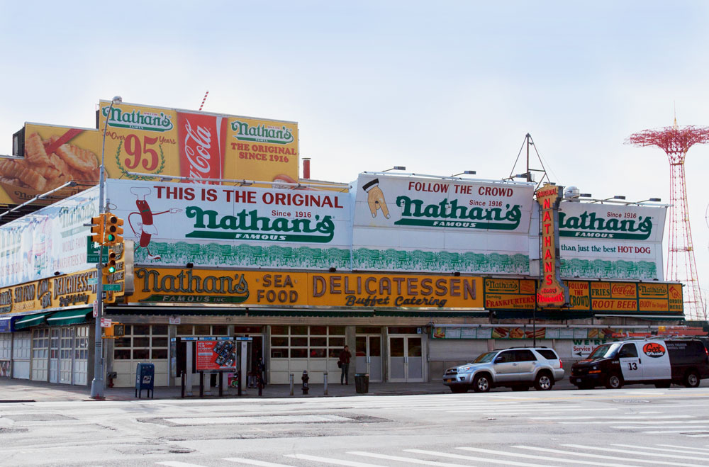 New York Nathans Hot Dogs Coney Island