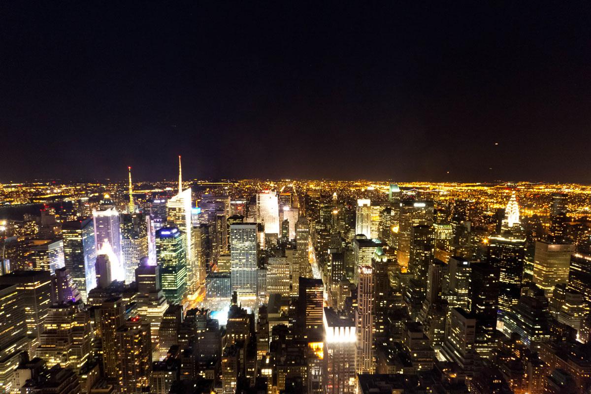 New York Sehenswürdigkeiten: Aussicht Empire State Building Nacht